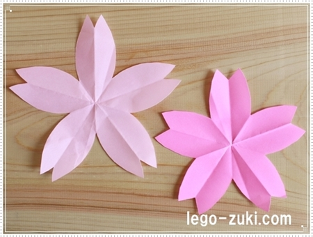 折り紙桜の花びら1
