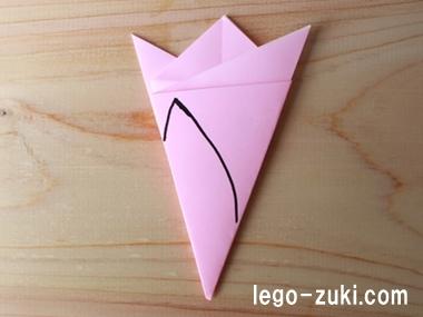 折り紙桜の花びら3